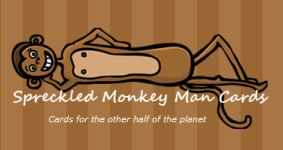 Spreckled Monkey Man Cards logo